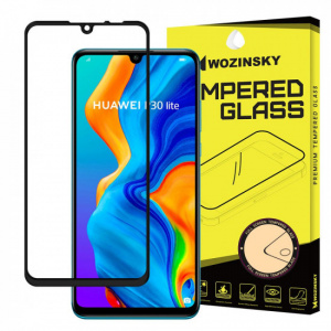 Wozinsky Huawei P30 Lite 9H Case Friendly Full Screen Full Glue Tempered Glass Αντιχαρακτικό Γυαλί Οθόνης - Black